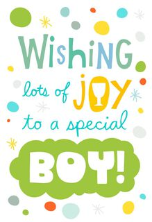 Wishing Lots of Joy to a Special Boy First Communion Card,