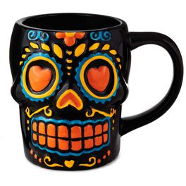 Sugar Skull Mug, 12 oz., , large