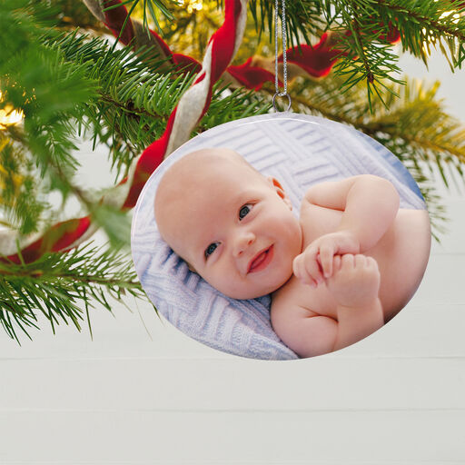 Christmas Ornament Christmas Personalized Memorial Gift Baby Feet Engraved First Christmas Custom Ornament Baby Footprint Ornament