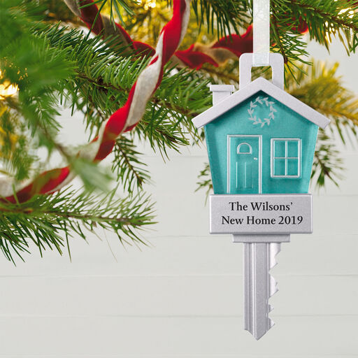 New Home Personalized Metal Ornament