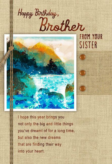 Everything You Wish Birthday Card For Brother From Sister Greeting