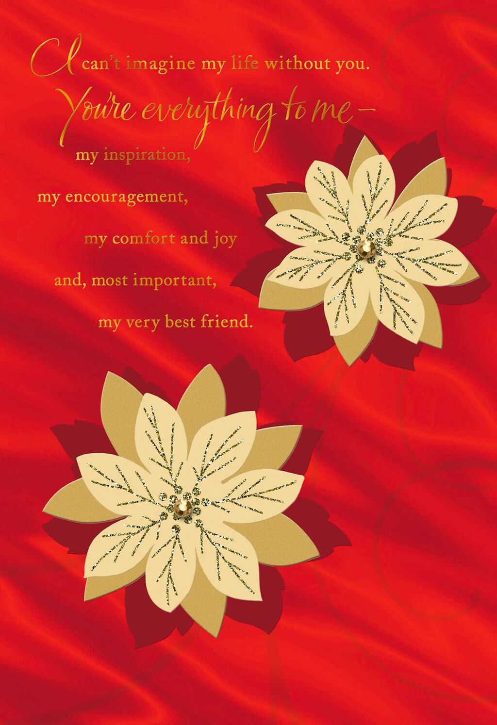 All because of you romantic christmas card greeting cards hallmark m4hsunfo