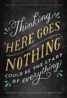 Chalkboard Poster Encouragement Card,