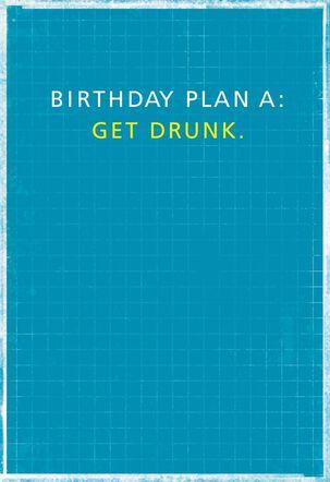 No Plan B Birthday Card
