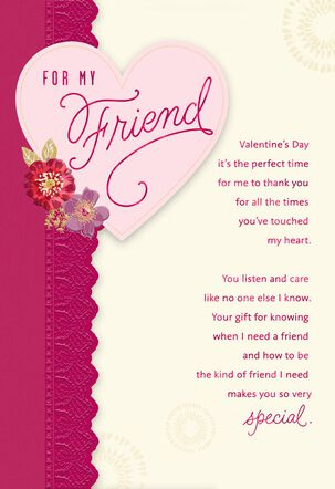 For My Friend Valentine's Day Card