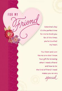 For My Friend Valentine's Day Card,