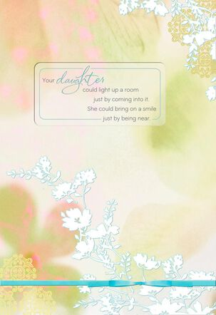 Flowers Loss of Daughter Sympathy Card