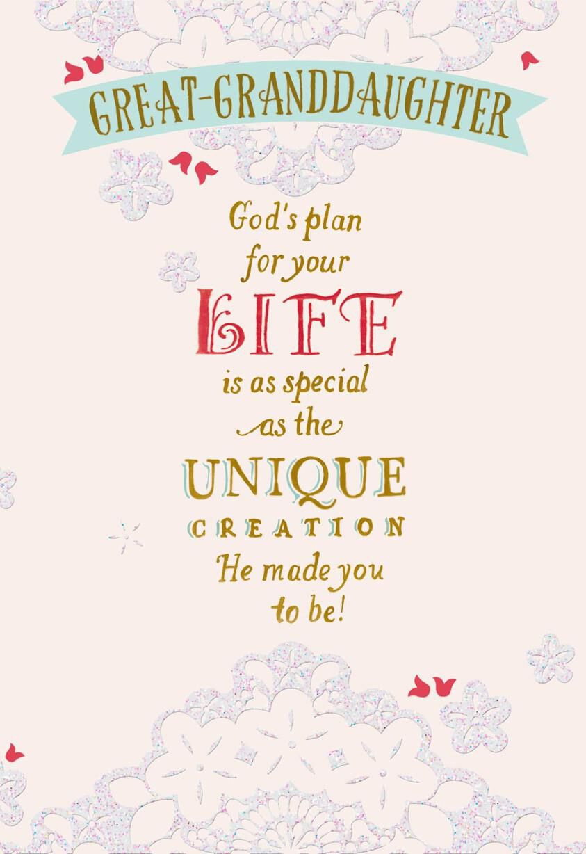 god u0026 39 s plan confirmation card for great