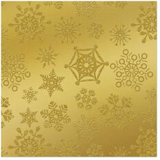 Gold Snowflakes Foil Christmas Wrapping Paper Roll 25 Sq Ft Wrapping Paper Hallmark