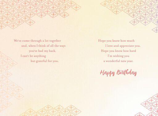 Sister Love Birthday Card