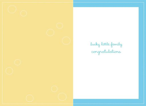 Lucky Little Boy New Baby Card,