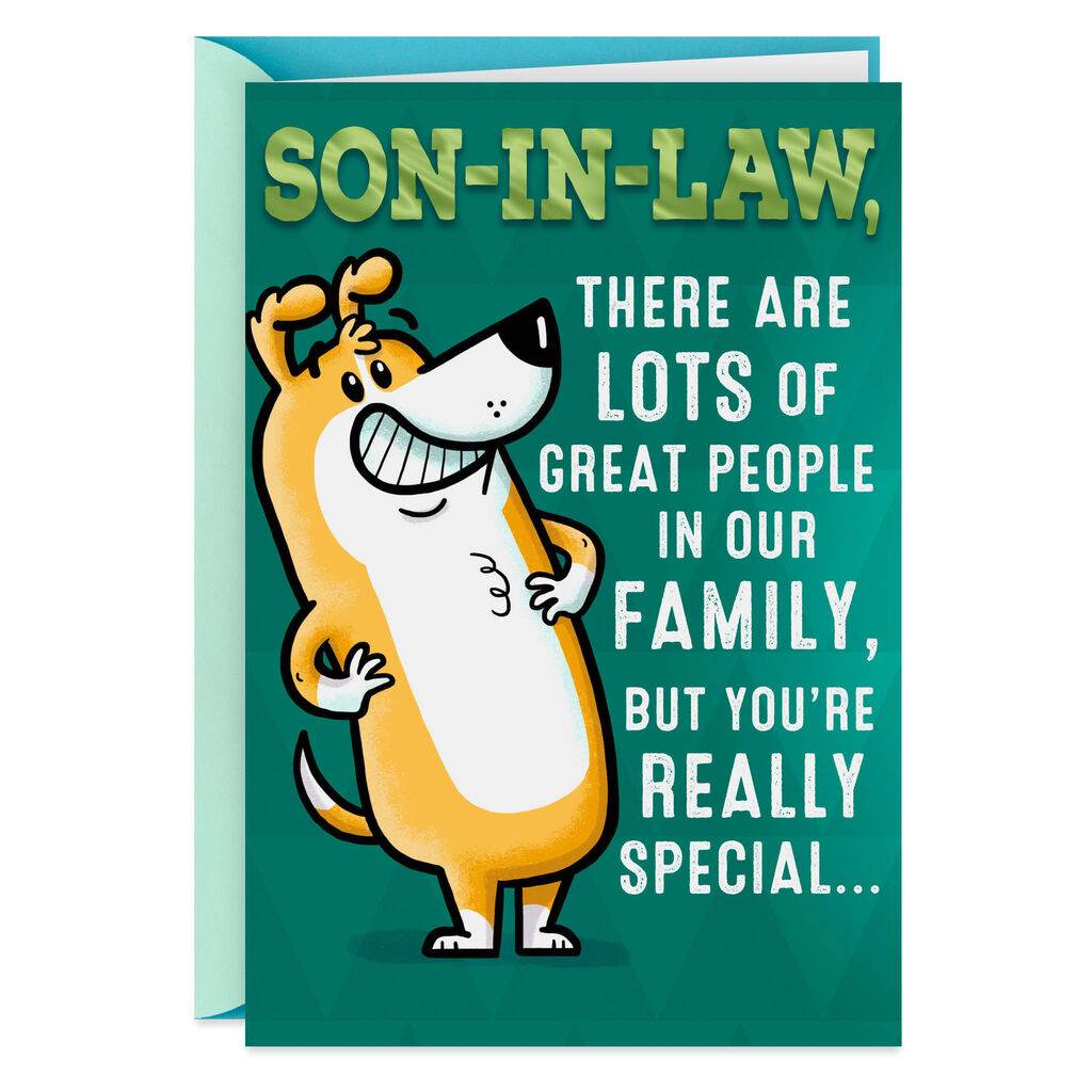 Youre Special Funny Birthday Card For Son In Law