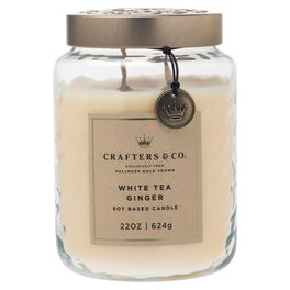 Crafters & Co. White Tea Ginger Candle, 22-oz, , large