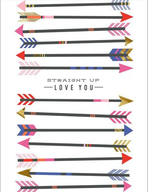 Gold-Tipped Arrows Valentine's Day Card