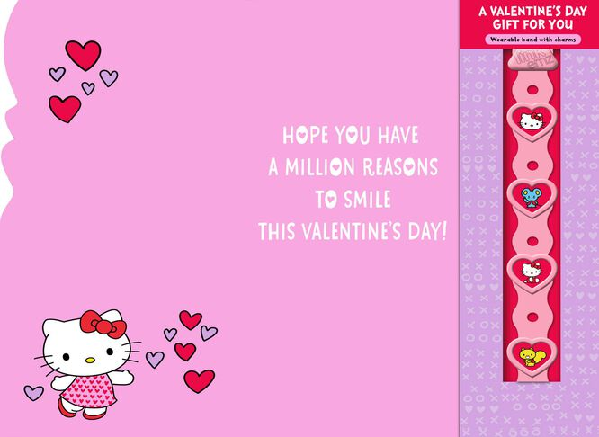 Hello Kitty® Lovable You Valentine\'s Day Card With Link\'emz ...