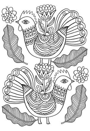 Love Birds Just Because Coloring Card