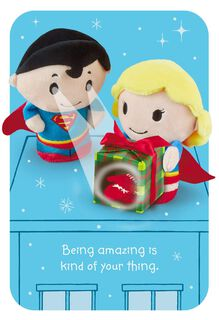 itty bittys® SUPERMAN™ and SUPERGIRL™ Christmas Card,
