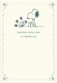 Peanuts® Snoopy and Woodstock with Bouquet Mother's Day Card,