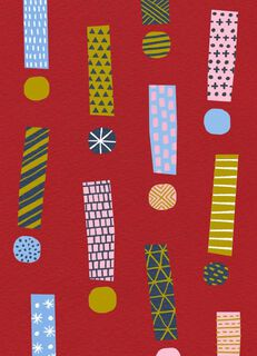 Exclamation Points Christmas Card,