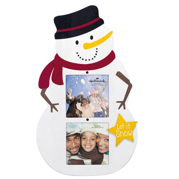 snowman 2 opening collage malden picture frame holds 2 photos