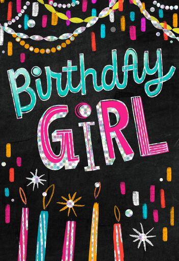 Foil Streamers Musical Birthday Card For Girl