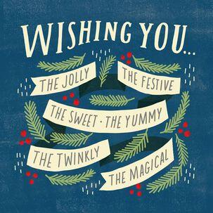 Holly Jolly Christmas Song Card
