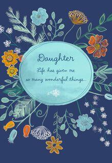 Floral Hanukkah Card for Daughter,
