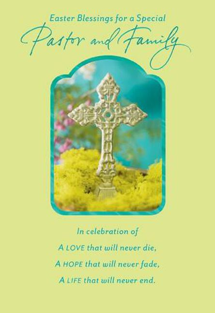 pastor and family religious easter card greeting cards hallmark