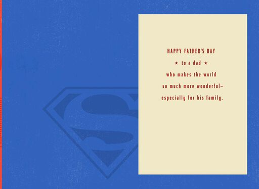 Superman™ Amazing Dad Father's Day Card With Keychain,