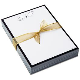 Classic Black and Gold Notes Memo Sheets, , large