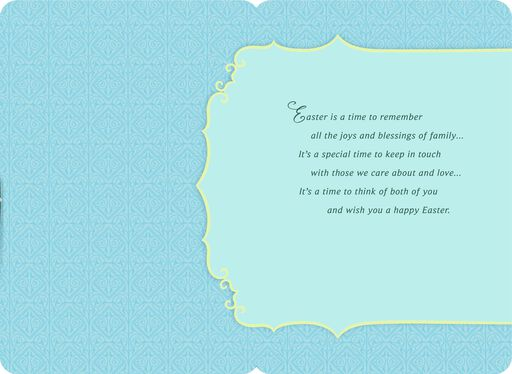 Joys and Blessings Easter Card for Aunt and Uncle,