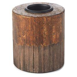 Copper and Wood Medium Tea Light Holder, , large