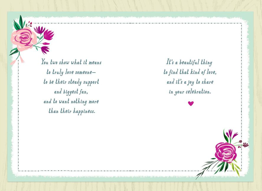 heart and flowers bridal shower card greeting cards hallmark