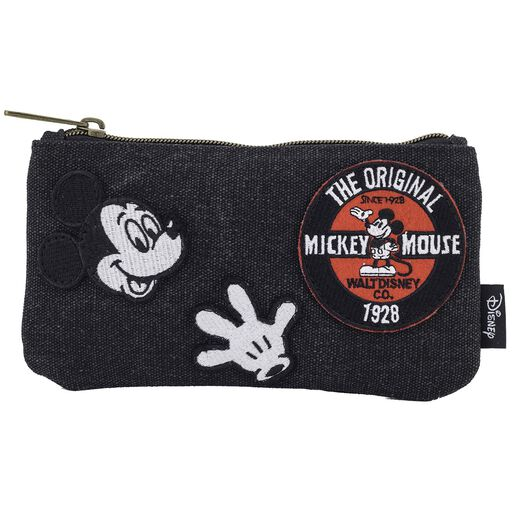 Loungefly Mickey Mouse Black Denim Cosmetic Bag, ... 320dff2a69