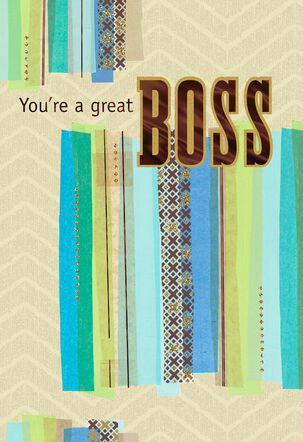 You Go the Extra Mile Boss's Day Card