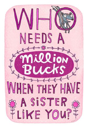 Million Dollar Request Funny Birthday Card for Sister