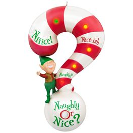 Naughty or Nice? Meter Sound and Light Ornament, , large
