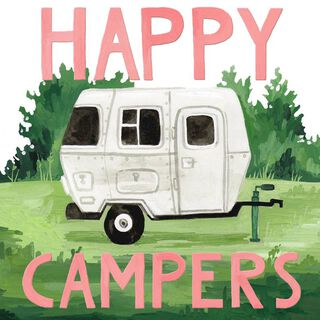 Happy Campers Wedding Card,