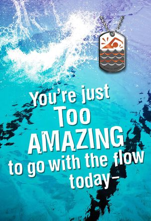 Make Some Waves and Celebrate Card with Dog Tag