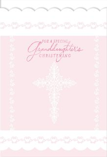 For a Special Granddaughter's Christening Card,