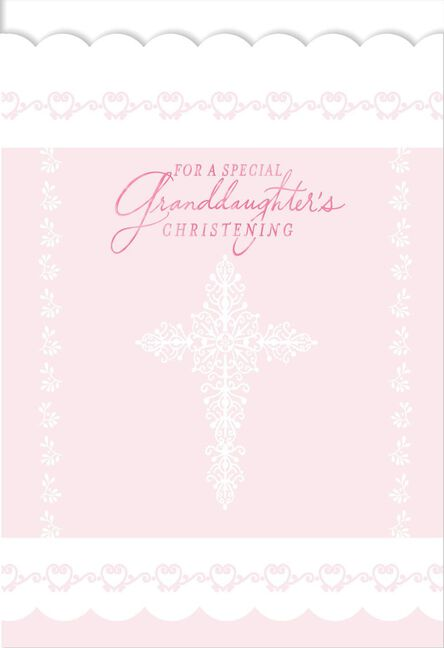 For a special granddaughters christening card greeting cards for a special granddaughters christening m4hsunfo
