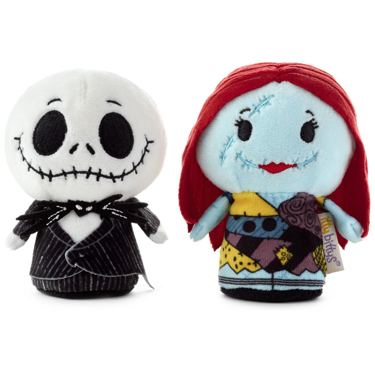itty bittys tim burtons the nightmare before christmas jack skellington and sally stuffed animals set of 2 itty bittys hallmark - Christmas Jack Skellington
