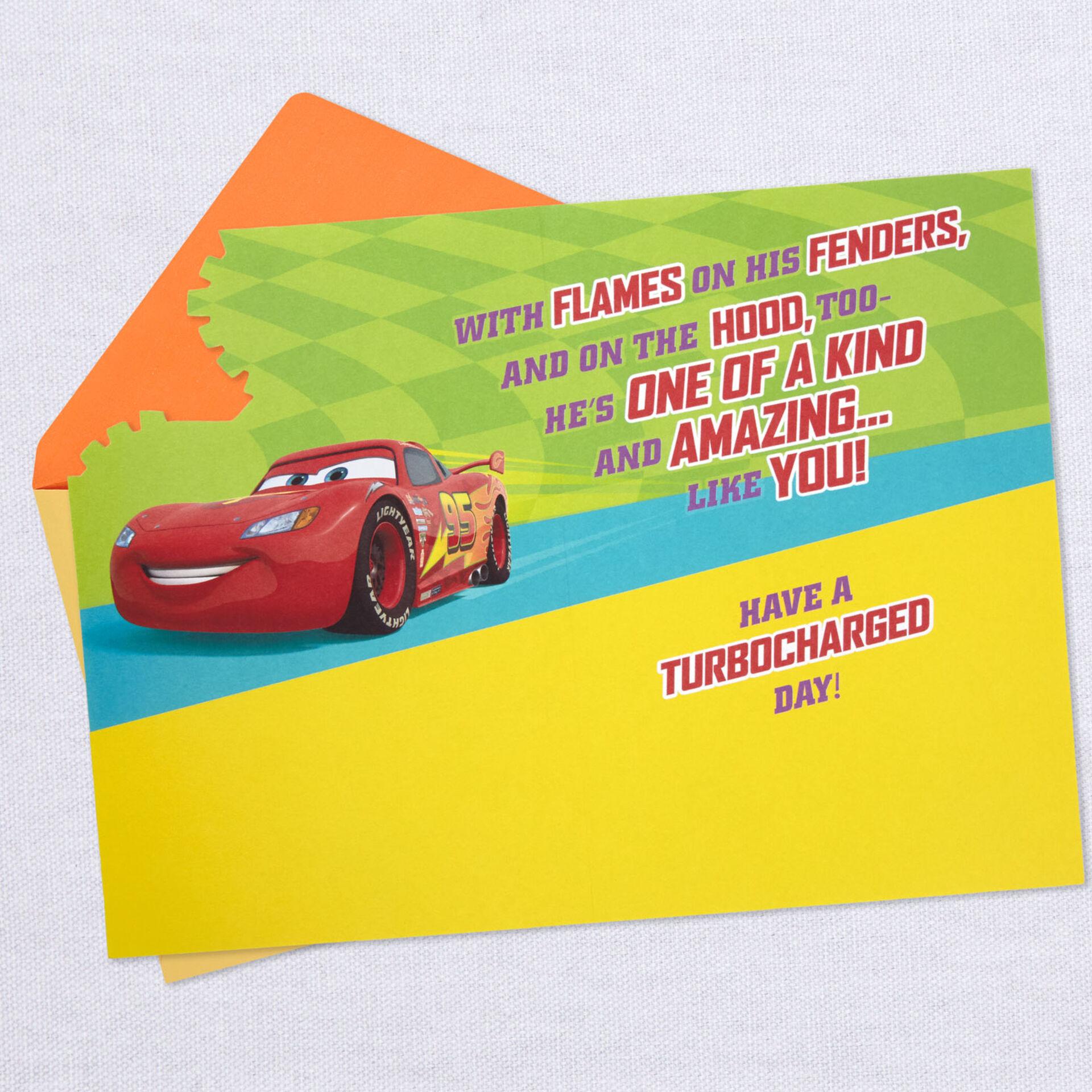 E LIGHTNING MQUEEN Cars Grandson Birthday Card FAST DELIVERY Brand: Hallmark