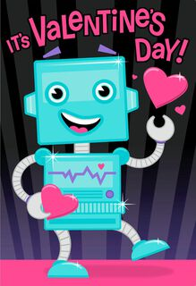 Super-Charged Robot Valentine's Day Sound Card,