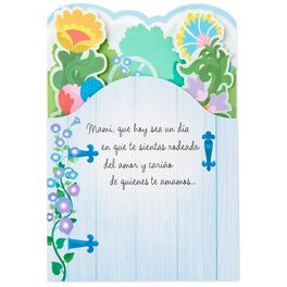 Garden Scene Spanish-Language Pop-Up Mother's Day  Card, , large