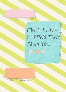 Blank Texts Mother's Day Card,