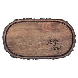 DaySpring Serve One Another in Love Cheese Tray, 11.5x6.5, , large