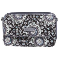 Vera Bradley Iconic Rfid All In One Crossbody In Charcoal