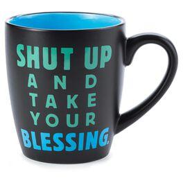 Take Your Blessing Faith Ceramic Mug, , large