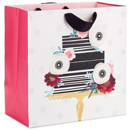 "Cake With Flowers Grand Square Gift Bag, 10.5"", , large"